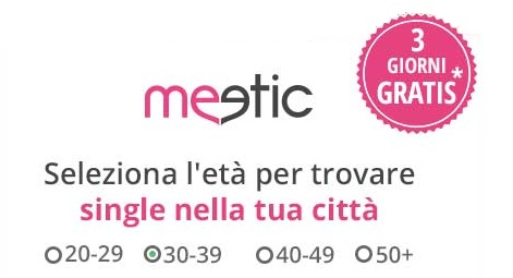 come scopare meetic chat gratis 3 giorni